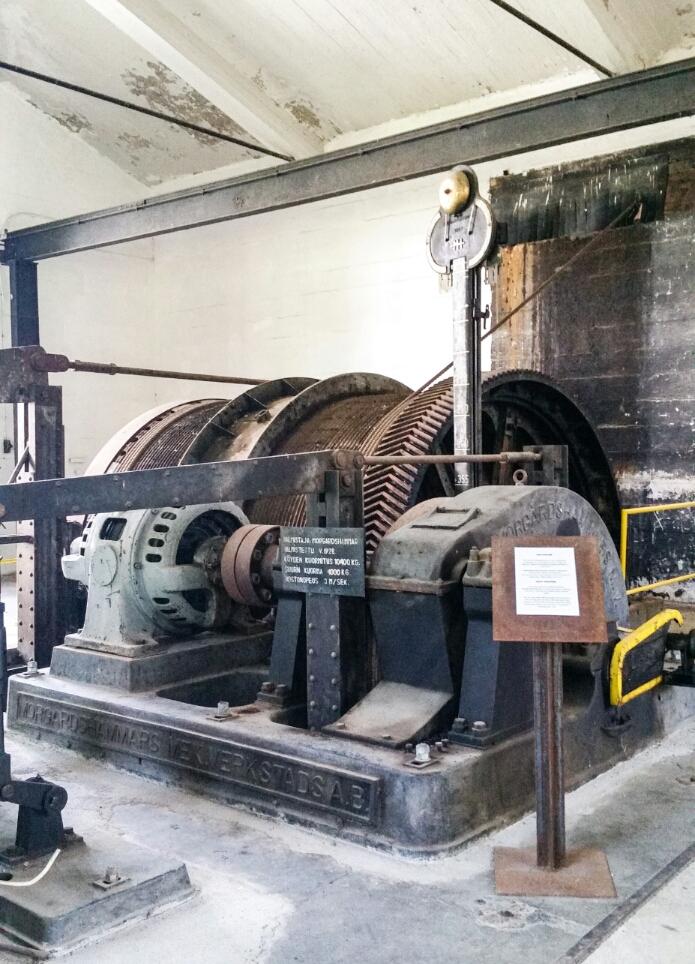 Outokumpu kaivosmuseo nostokoneikko