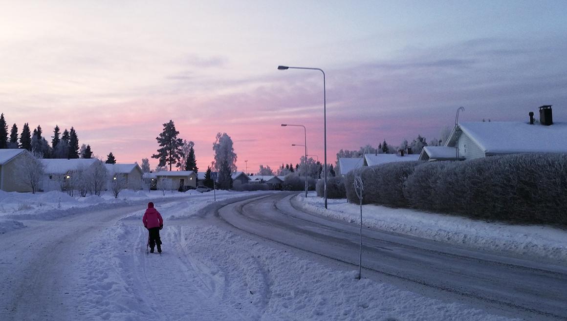 Talvinen auringonnousu